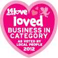 Nationally, 3rd Most Loved Business in Category 2012