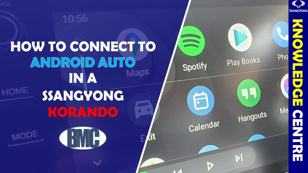 How do I connect Android Auto to my SsangYong?